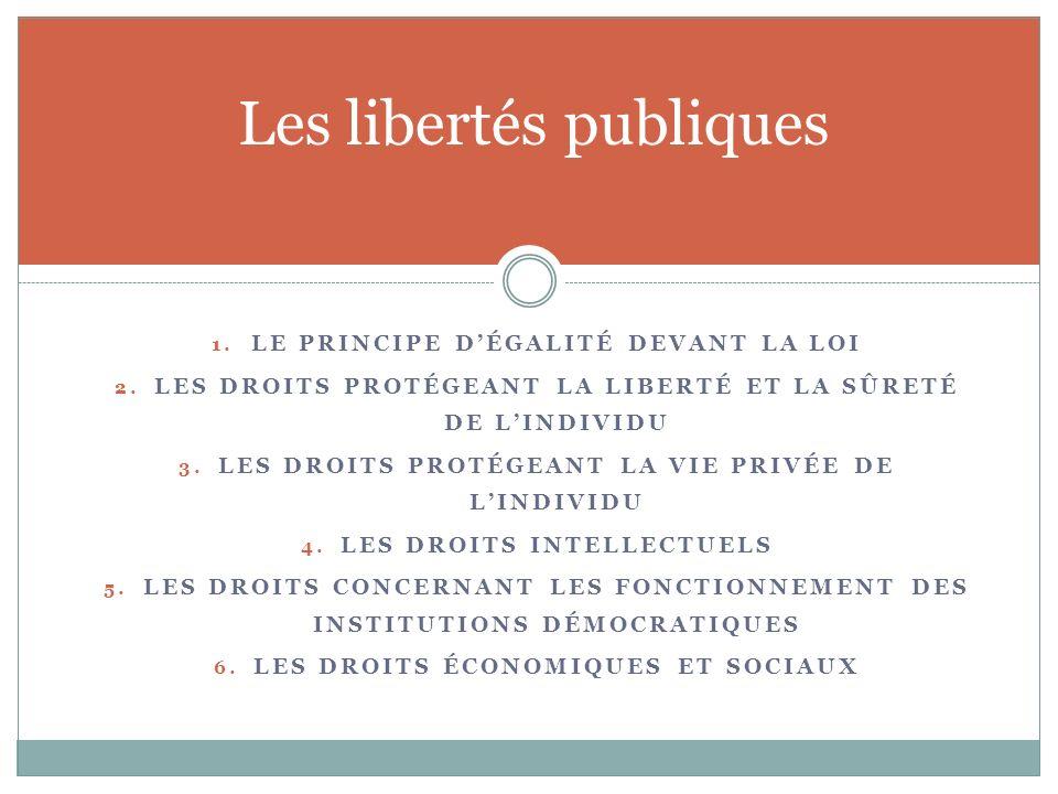 Les libertés publiques