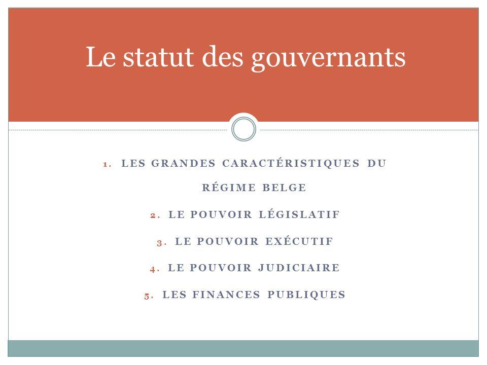 Le statut des gouvernants