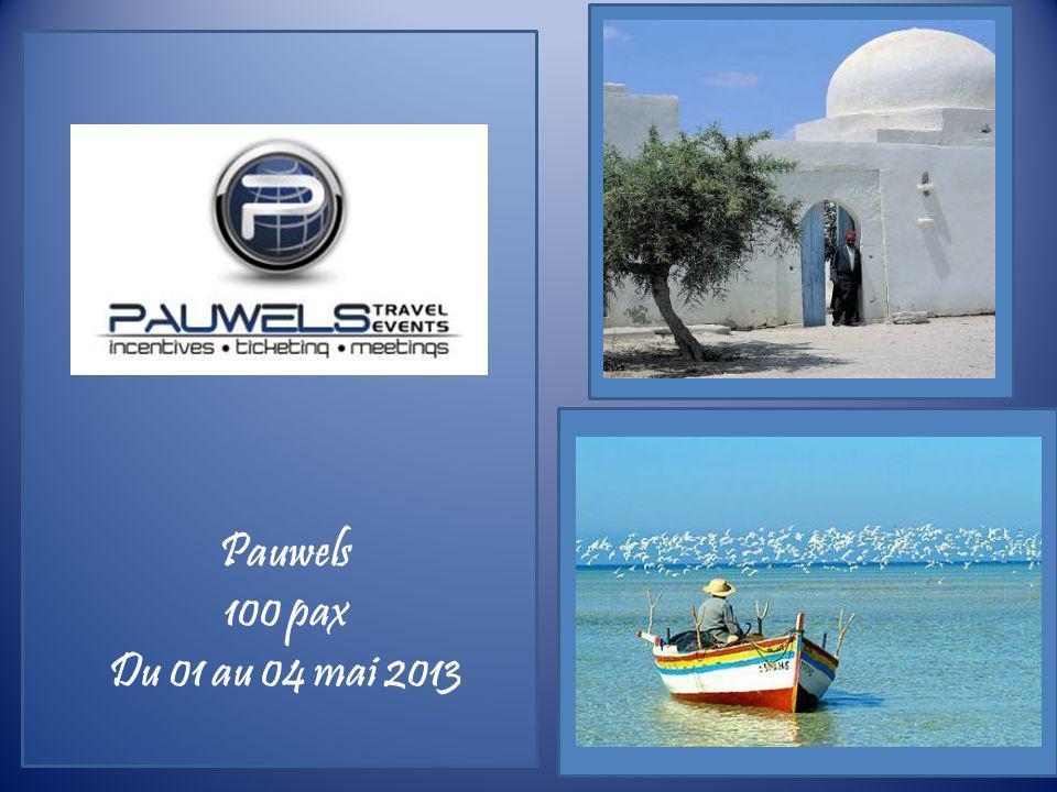 Pauwels 100 pax Du 01 au 04 mai 2013