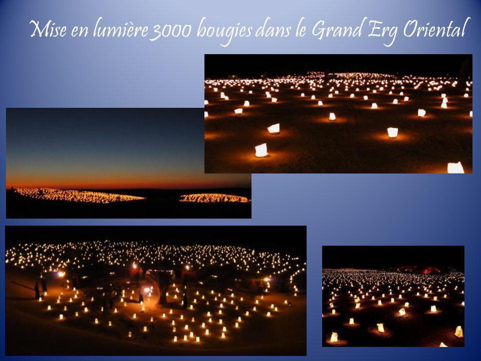 Mise en lumière 3000 bougies dans le Grand Erg Oriental