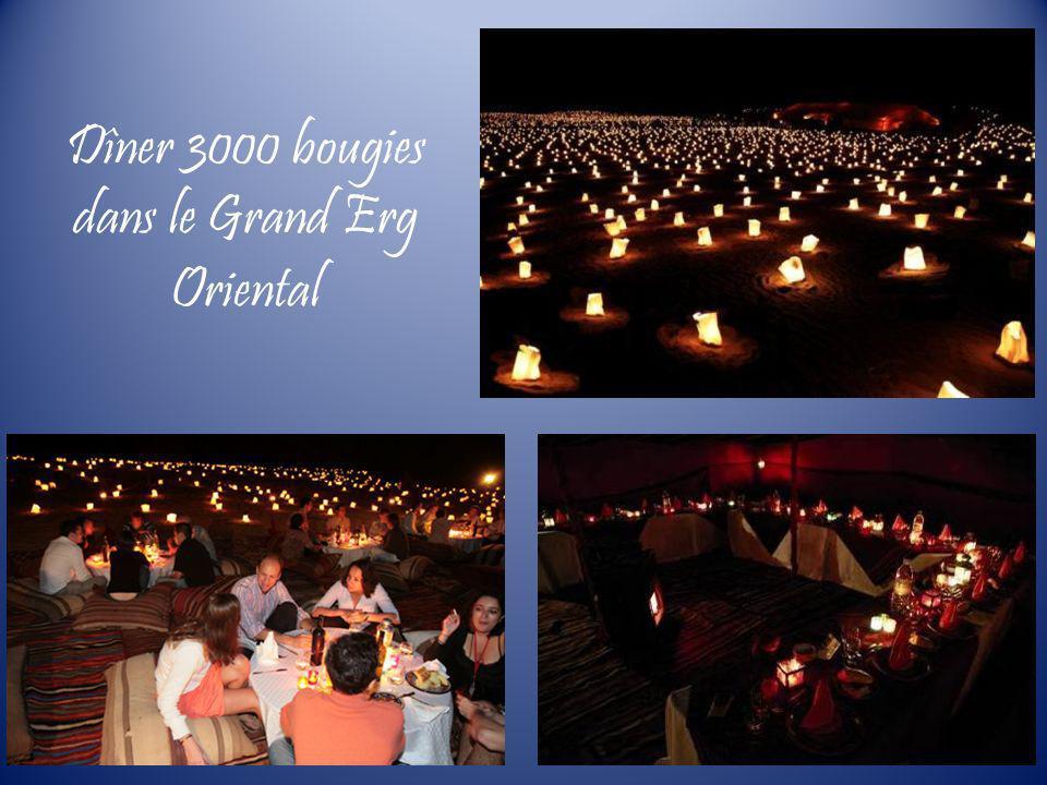 Dîner 3000 bougies dans le Grand Erg Oriental