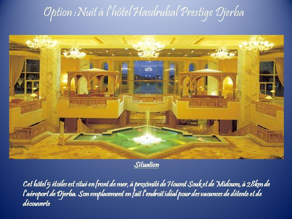 Option :Nuit à l'hôtel Hasdrubal Prestige Djerba