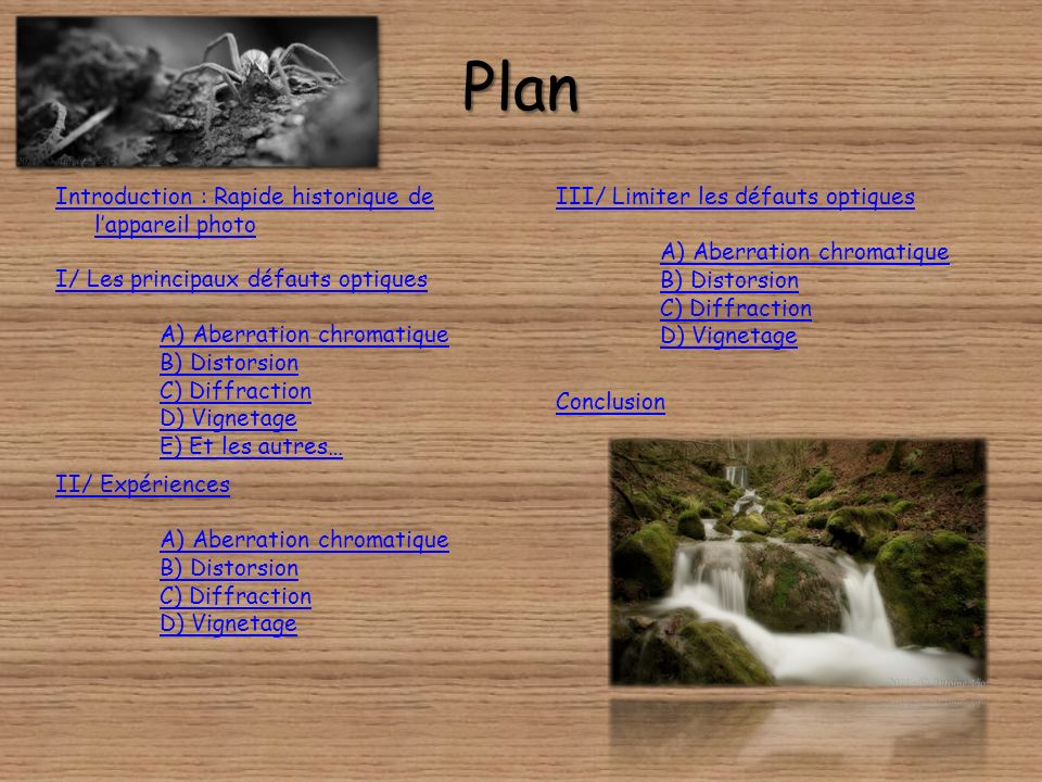 Plan Introduction : Rapide historique de l'appareil photo