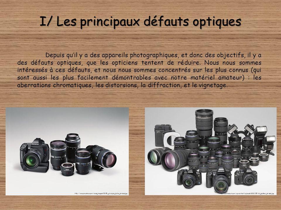 I/ Les principaux défauts optiques