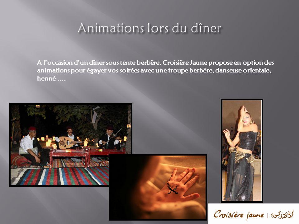 Animations lors du dîner