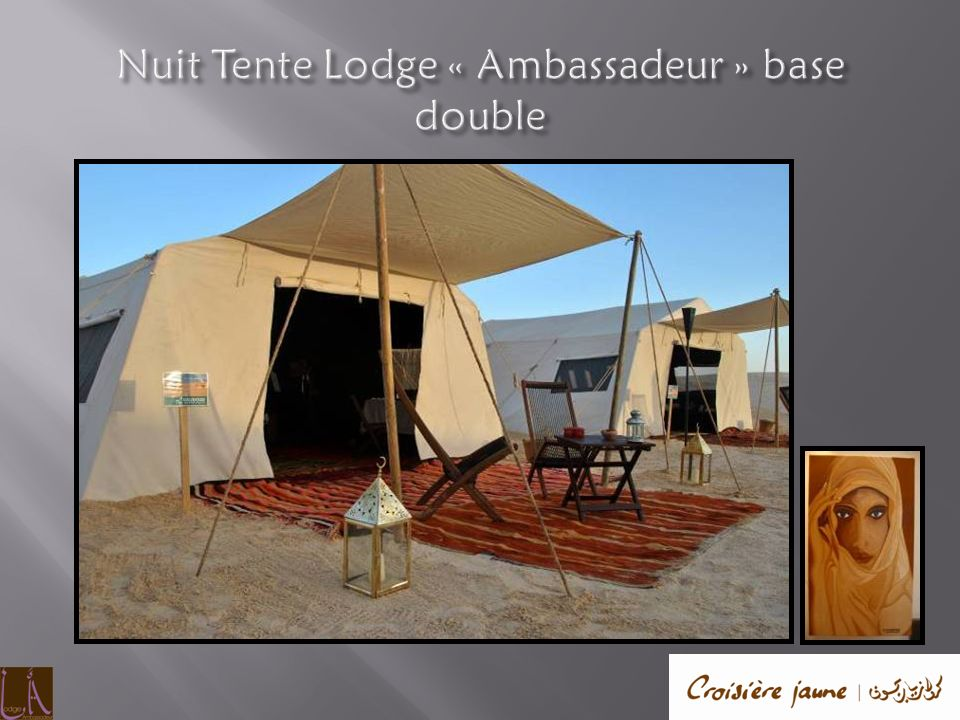 Nuit Tente Lodge « Ambassadeur » base double