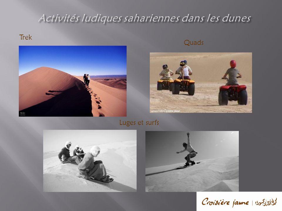 Activités ludiques sahariennes dans les dunes