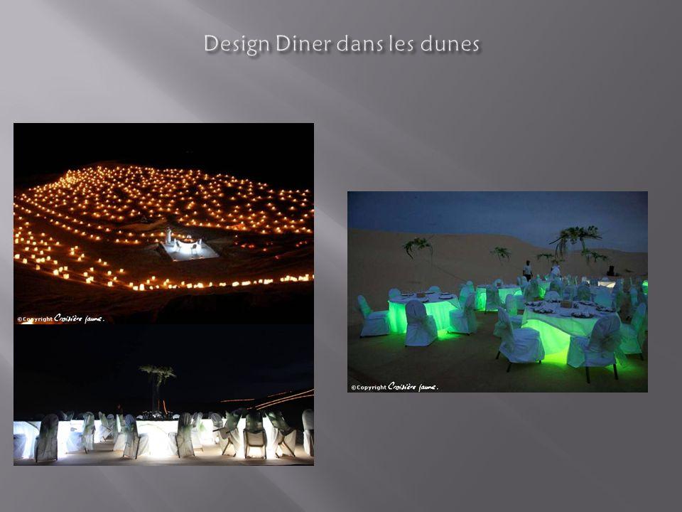 Design Diner dans les dunes