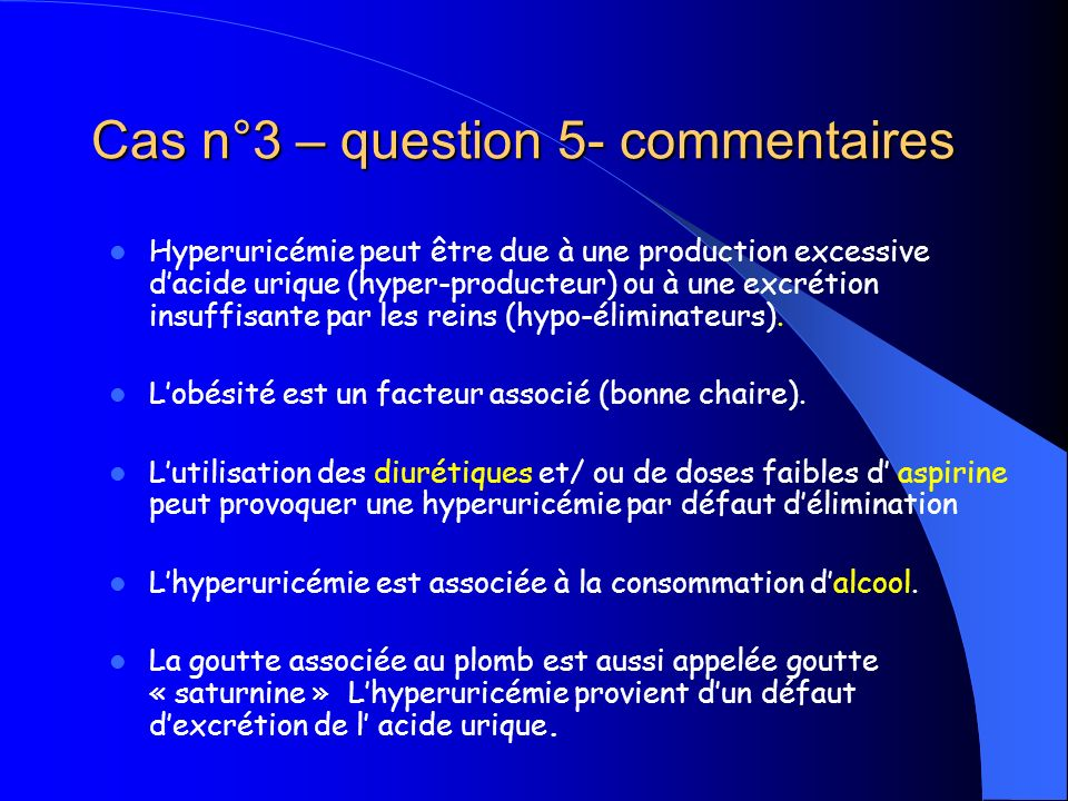 Cas n°3 – question 5- commentaires