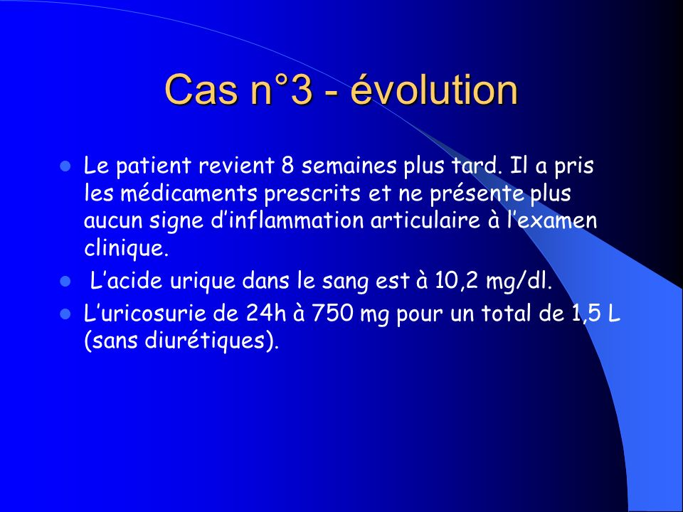 Cas n°3 - évolution