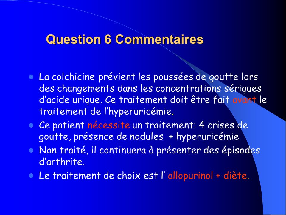 Question 6 Commentaires