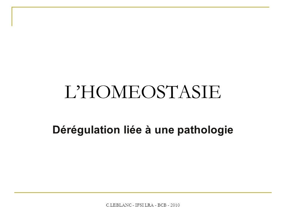 Dérégulation liée à une pathologie