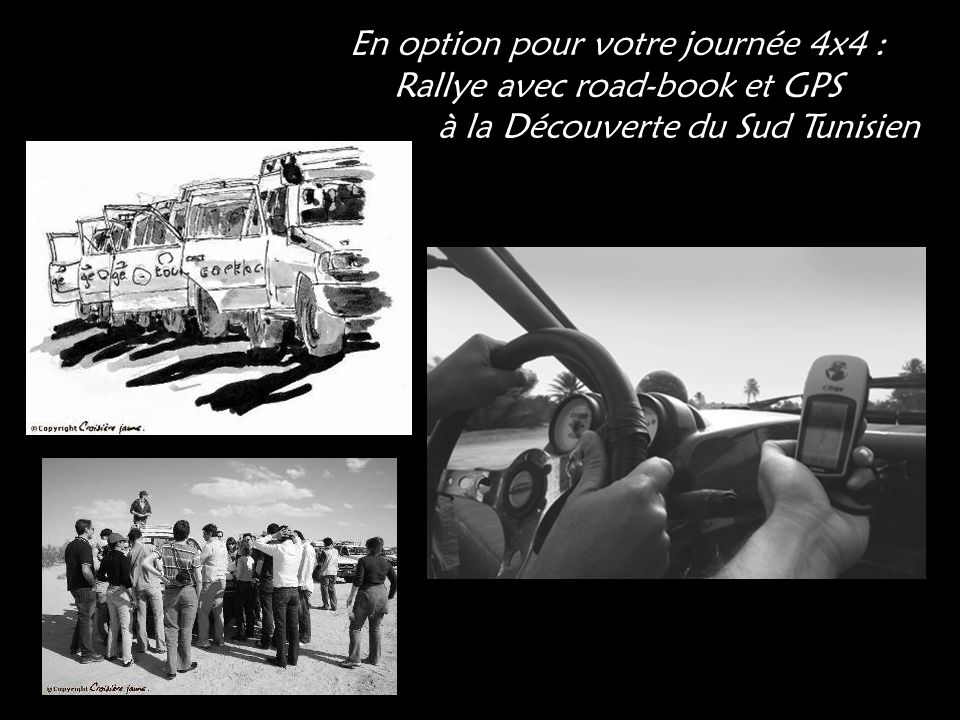 En option pour votre journée 4x4 : Rallye avec road-book et GPS