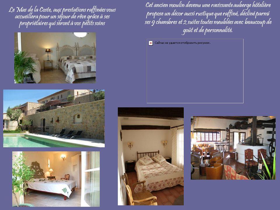 Cet ancien moulin devenu une ravissante auberge hôtelière propose un décor aussi rustique que raffiné, décliné parmi ses 9 chambres et 2 suites toutes meublées avec beaucoup de goût et de personnalité.