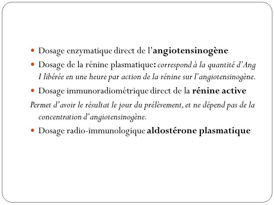 Dosage enzymatique direct de l'angiotensinogène