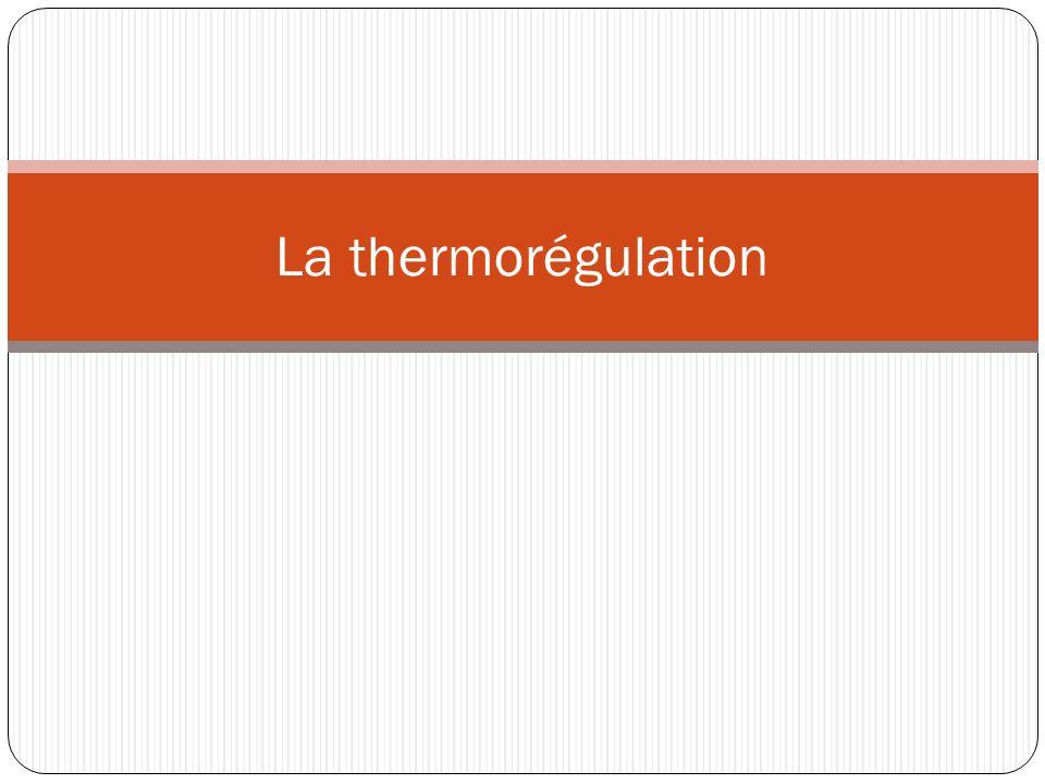 La thermorégulation
