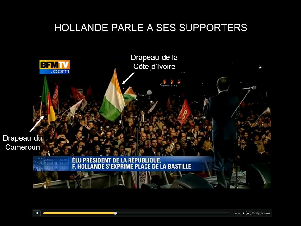 HOLLANDE PARLE A SES SUPPORTERS