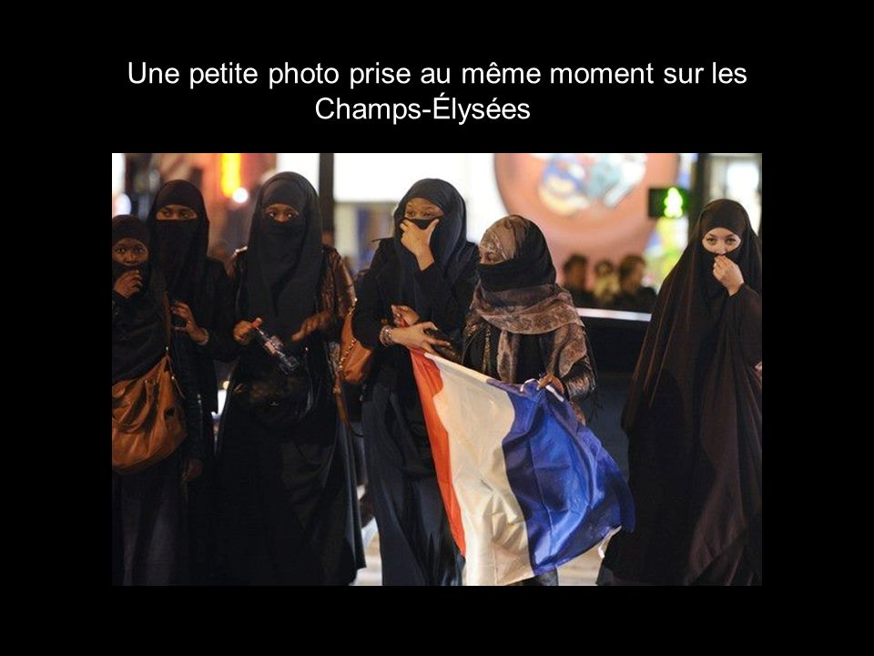 Une petite photo prise au même moment sur les Champs-Élysées…