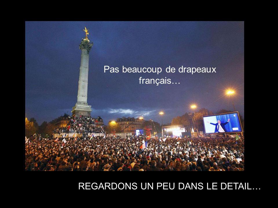 Pas beaucoup de drapeaux français…