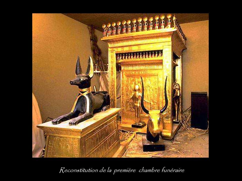 Reconstitution de la première chambre funéraire