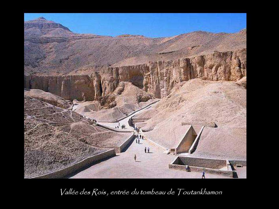 Vallée des Rois , entrée du tombeau de Toutankhamon