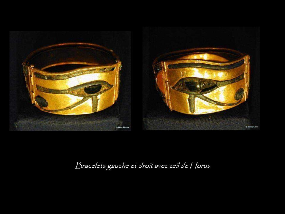 Bracelets gauche et droit avec œil de Horus