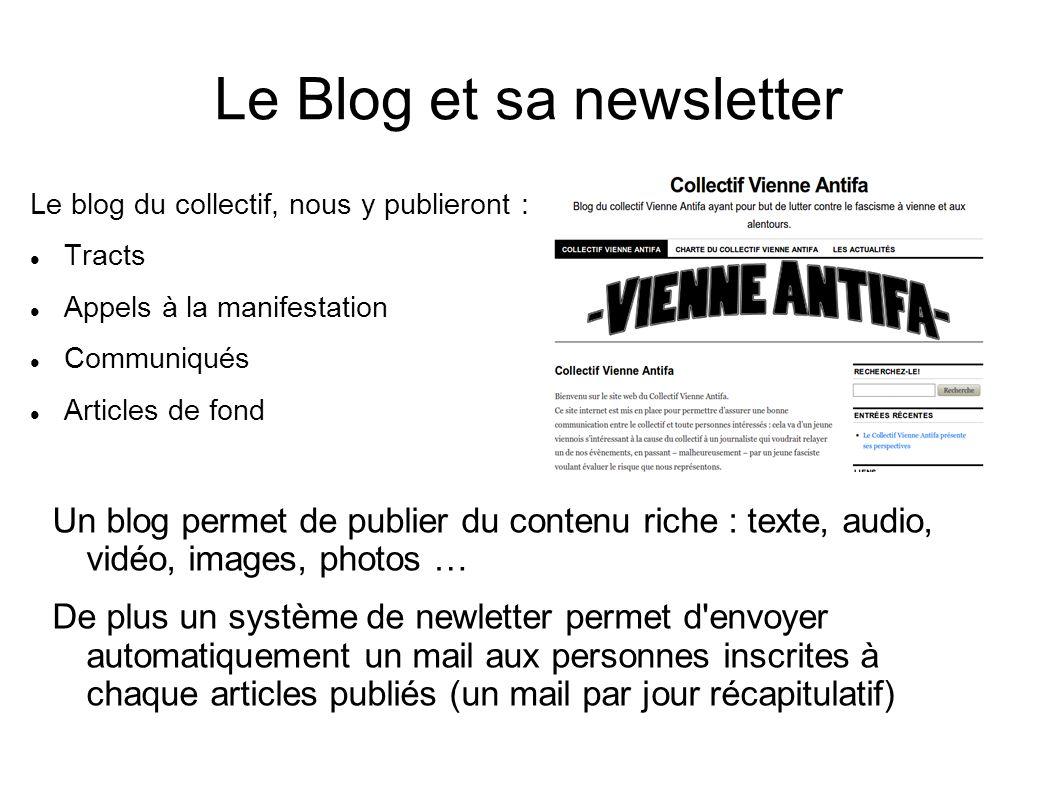 Le Blog et sa newsletter