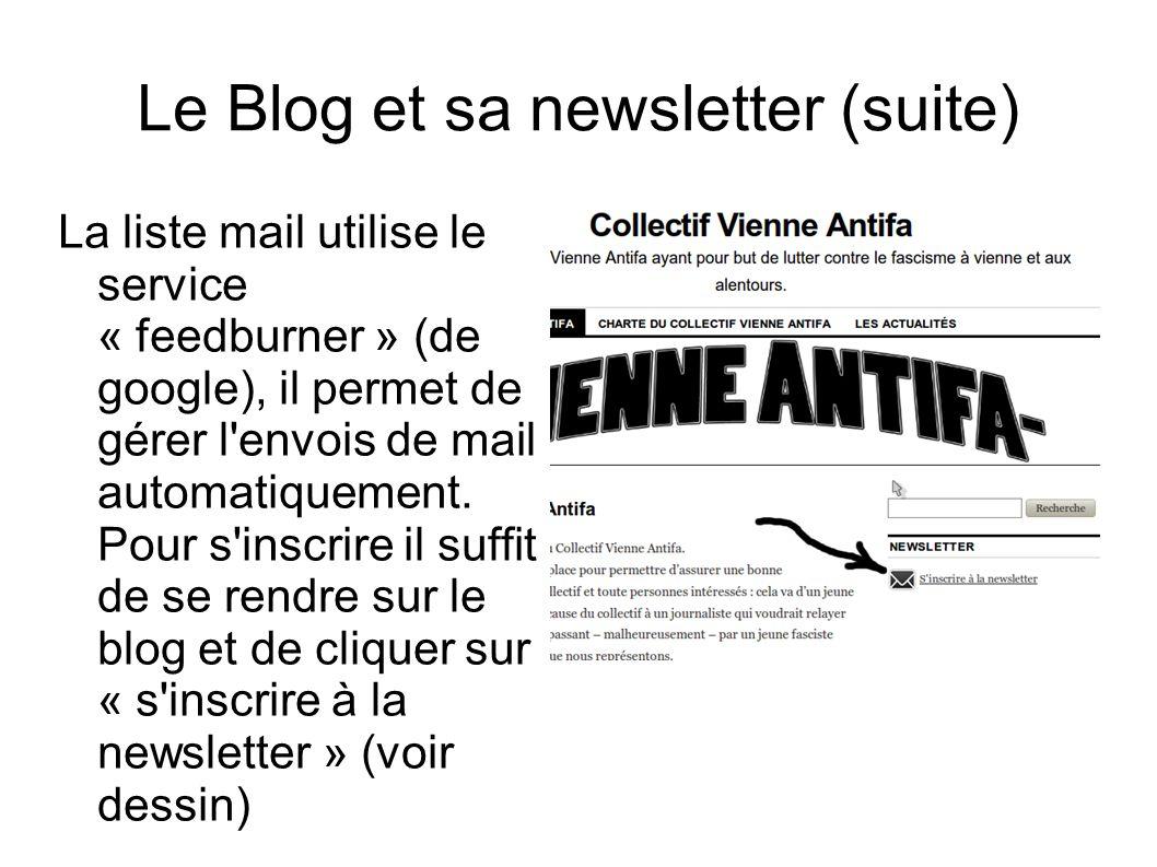 Le Blog et sa newsletter (suite)