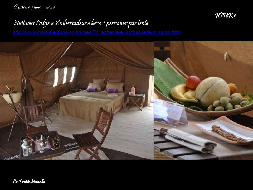 Nuit sous Lodge « Ambassadeur » base 2 personnes par tente