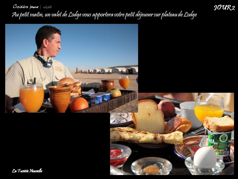 JOUR 2 Au petit matin, un valet de Lodge vous apportera votre petit déjeuner sur plateau de Lodge.