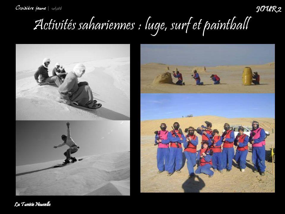 Activités sahariennes : luge, surf et paintball