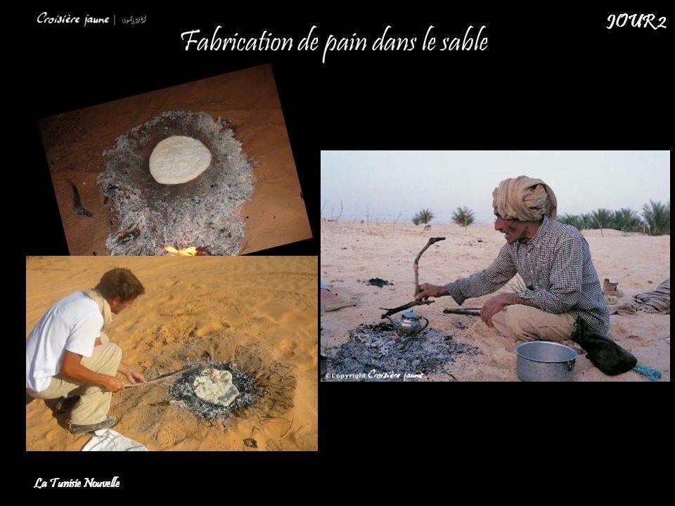 Fabrication de pain dans le sable
