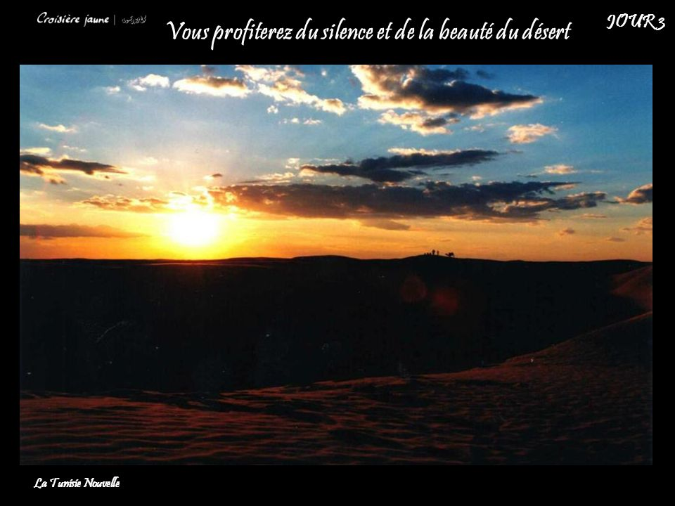 Vous profiterez du silence et de la beauté du désert