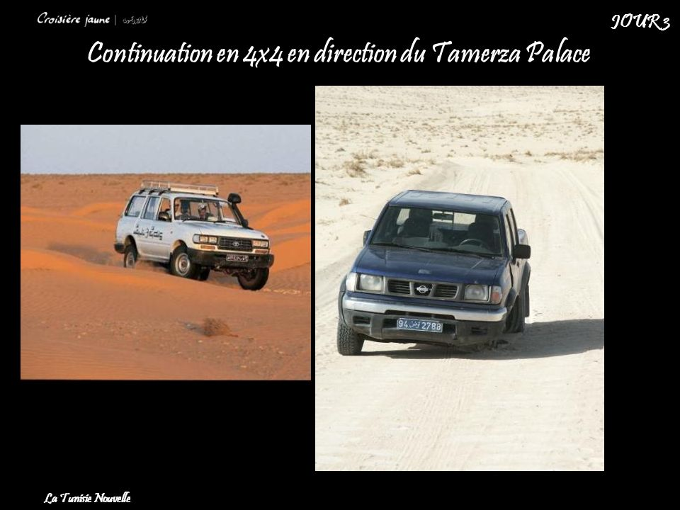 Continuation en 4x4 en direction du Tamerza Palace