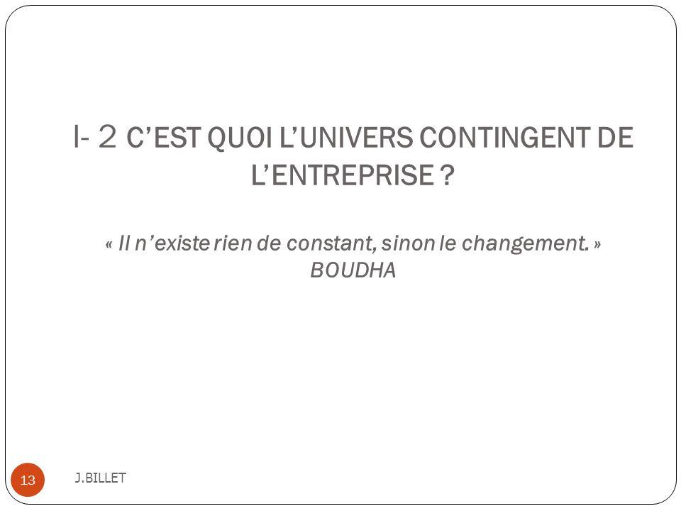 I- 2 C'EST QUOI L'UNIVERS CONTINGENT DE L'ENTREPRISE