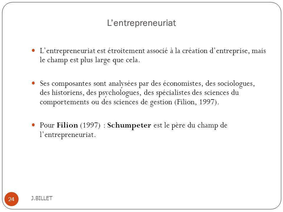 L'entrepreneuriat L'entrepreneuriat est étroitement associé à la création d'entreprise, mais le champ est plus large que cela.