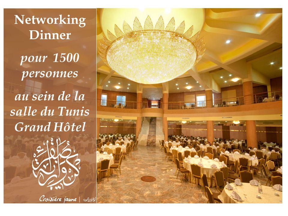 au sein de la salle du Tunis Grand Hôtel