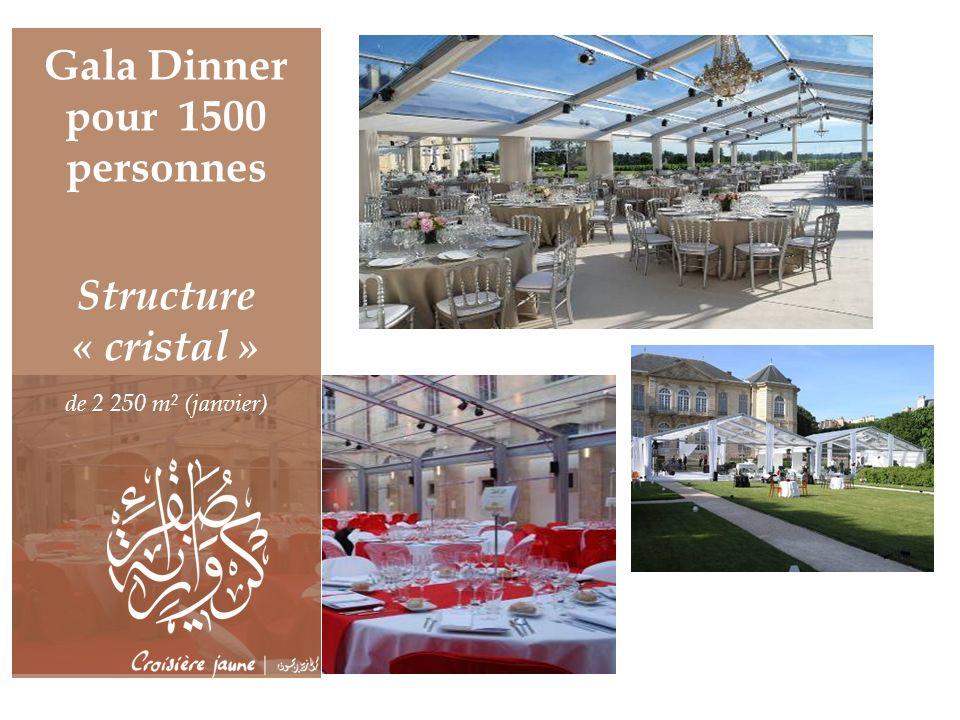 Gala Dinner pour 1500 personnes