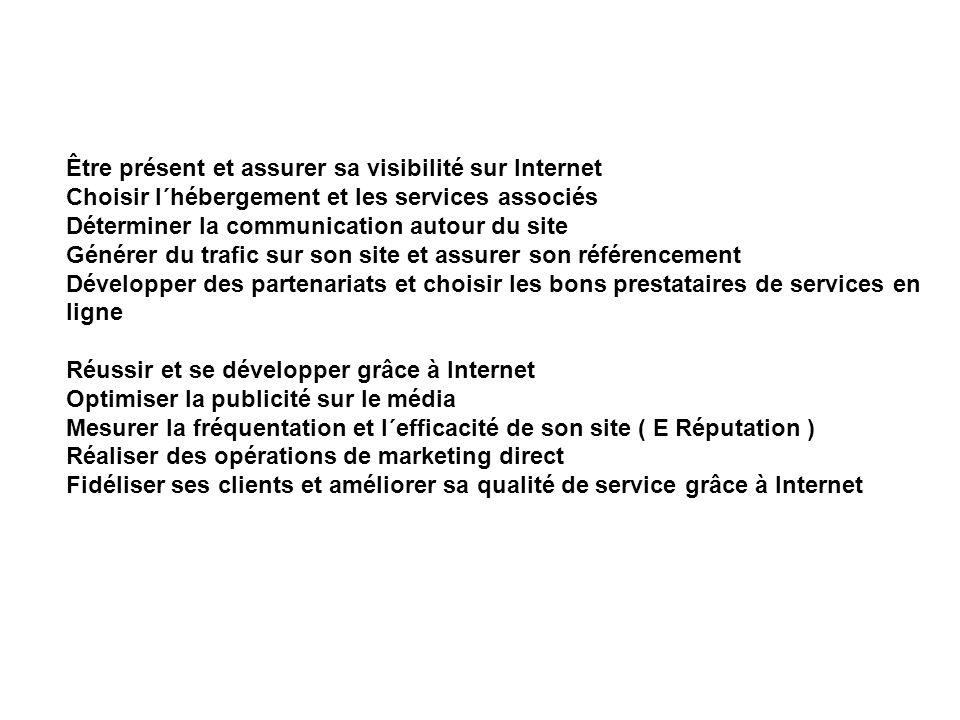 Être présent et assurer sa visibilité sur Internet