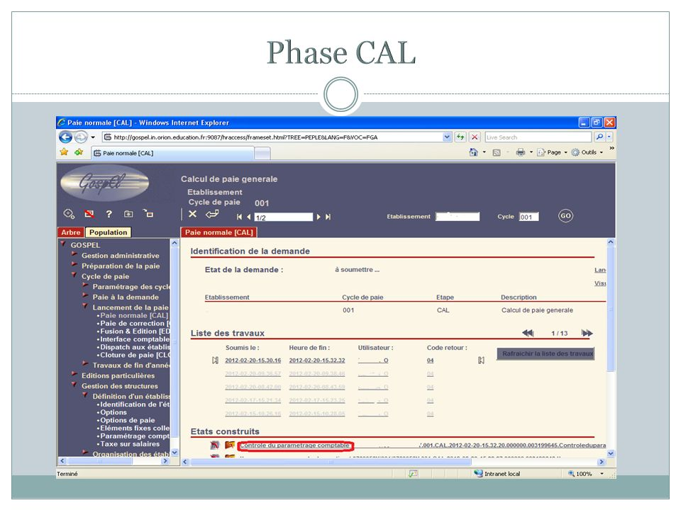 Phase CAL