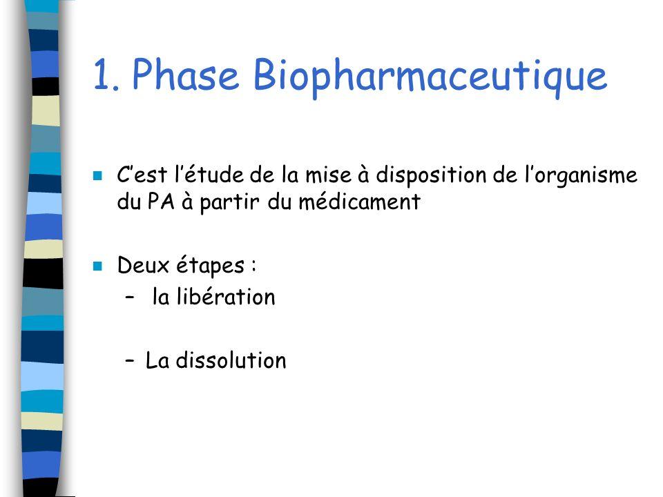 1. Phase Biopharmaceutique