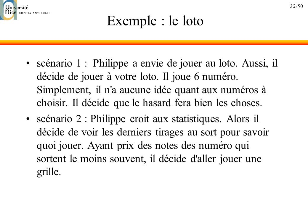 Exemple : le loto