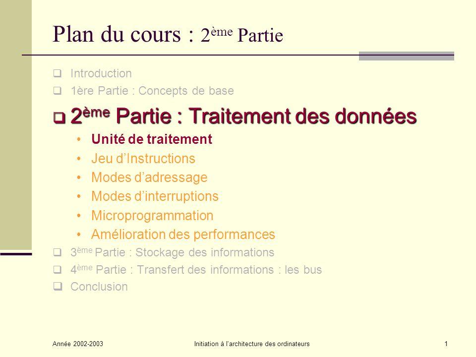 Plan du cours : 2ème Partie