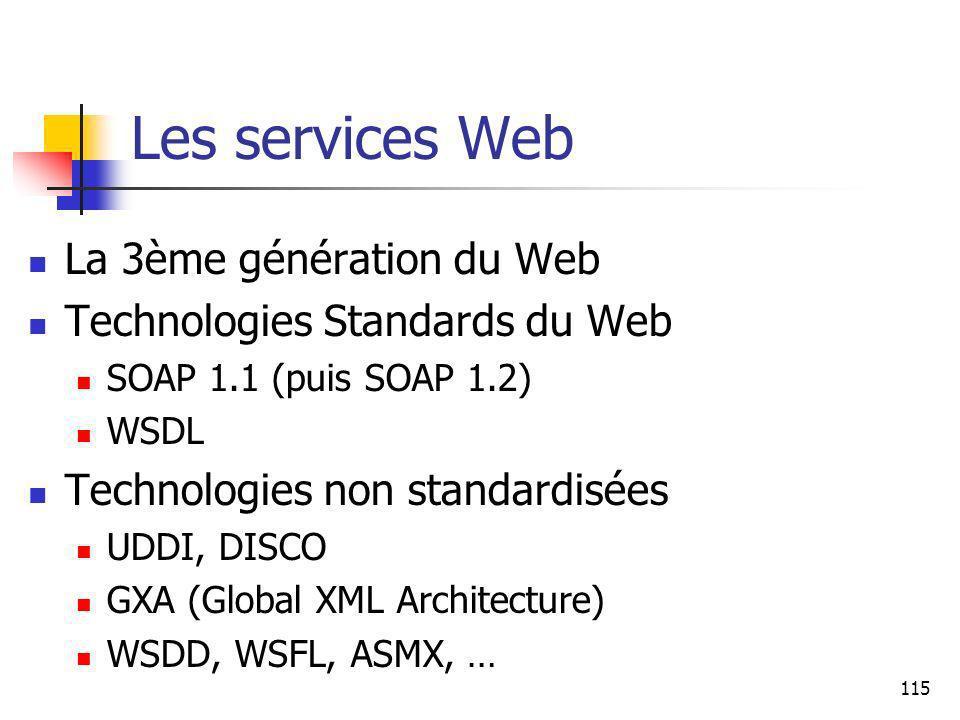 Les services Web La 3ème génération du Web