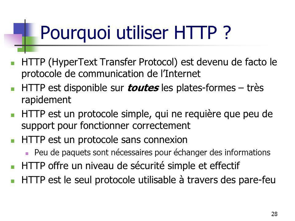 Pourquoi utiliser HTTP