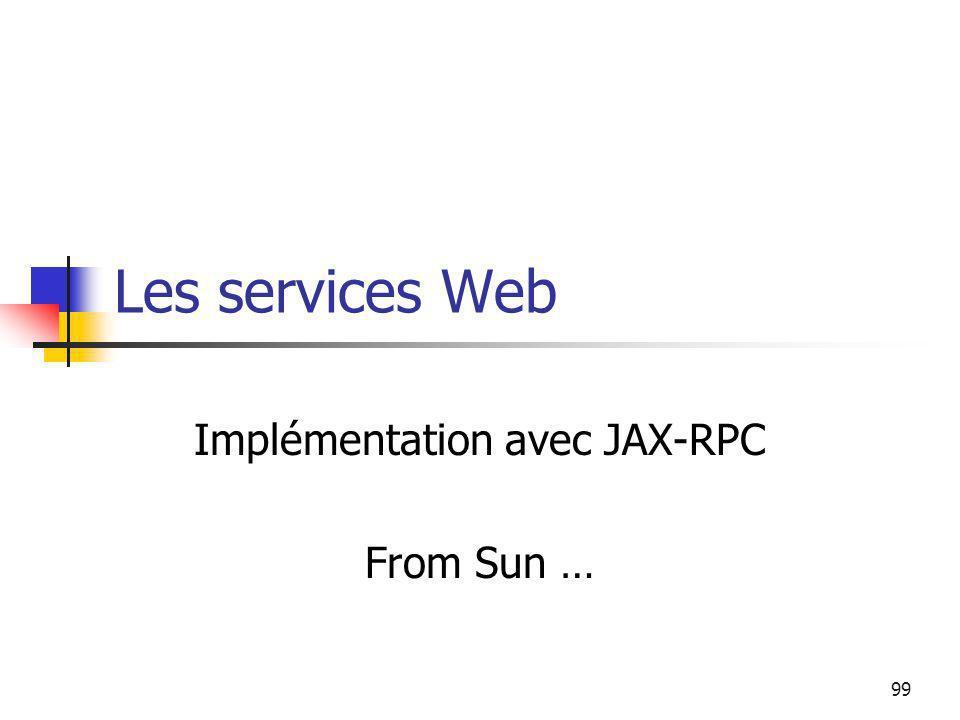 Implémentation avec JAX-RPC From Sun …