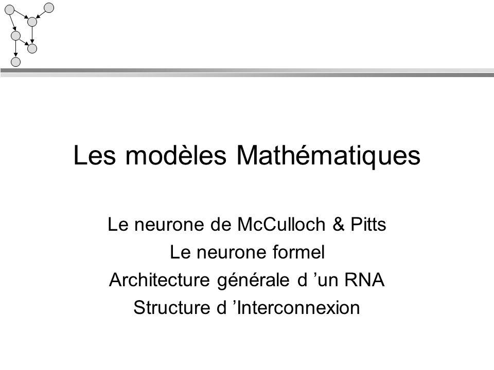 Les modèles Mathématiques