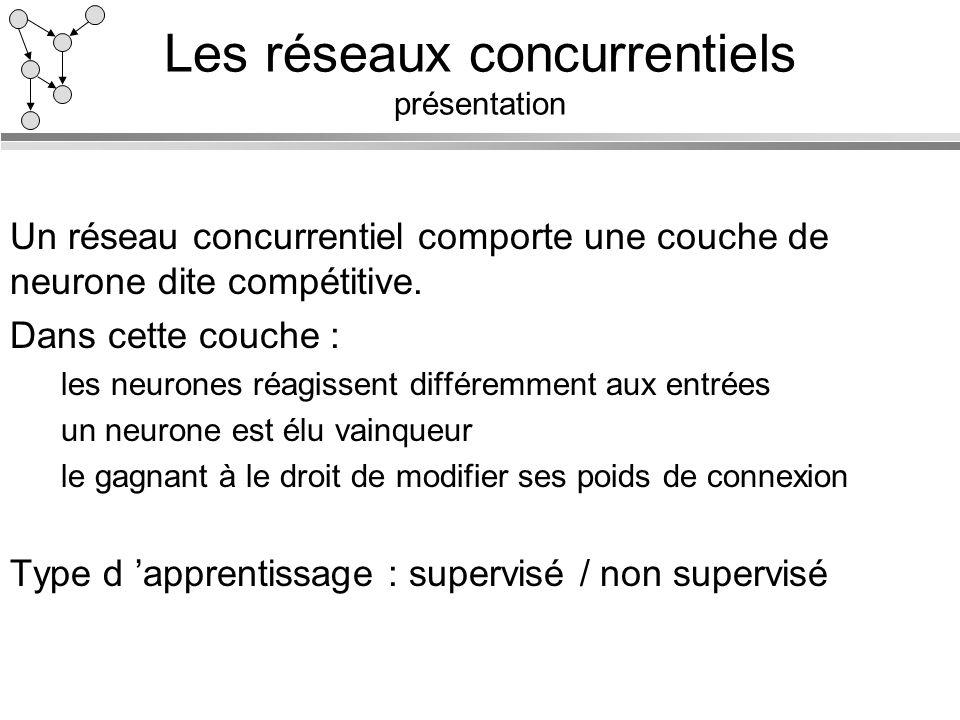 Les réseaux concurrentiels présentation