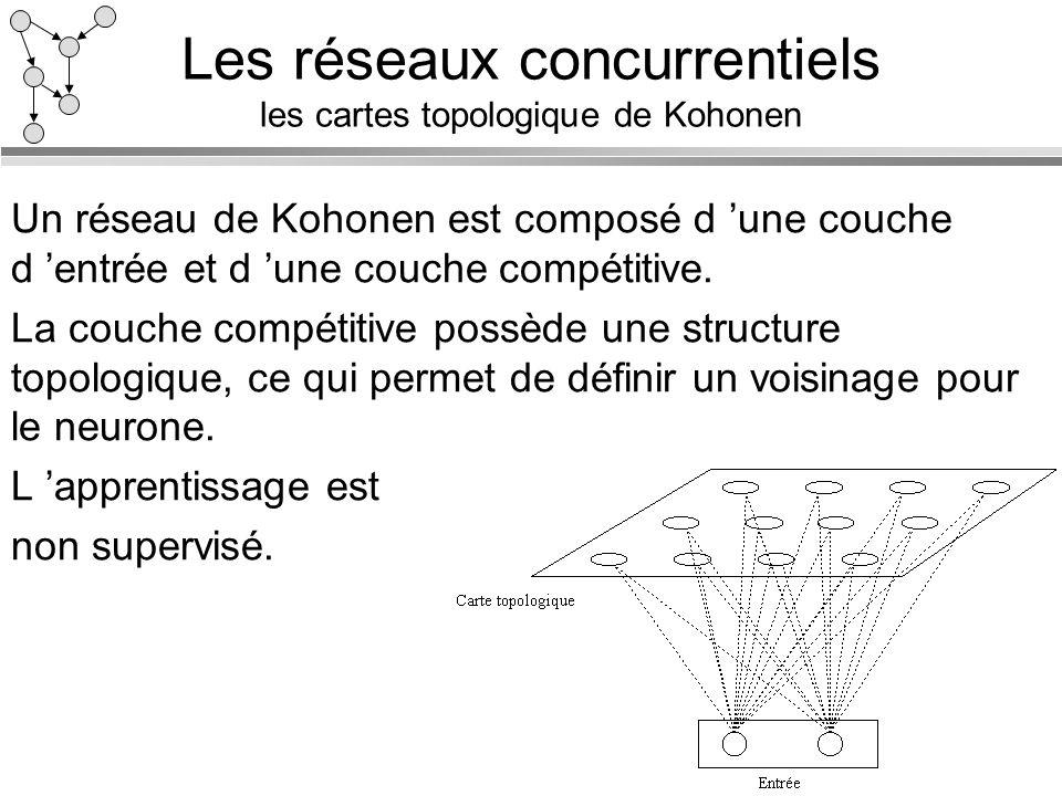 Les réseaux concurrentiels les cartes topologique de Kohonen