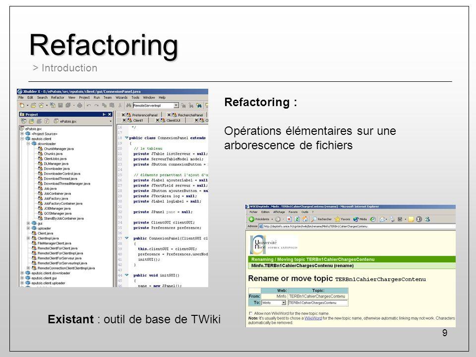Refactoring Refactoring :